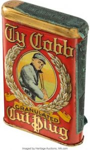 Rare, High-Grade Ty Cobb Tobacco Tin up for Auction