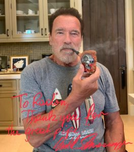 Arnold Receives Terminator Pipe for 73rd Birthday